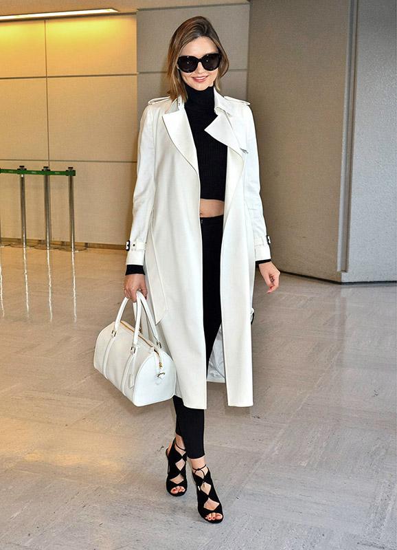 Miranda Kerr con gabardina 2016