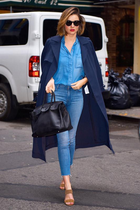 Miranda kerr con un look casual en Nueva York