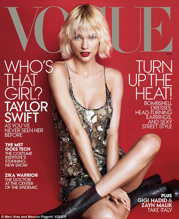 taylor swift en la portada vogue USA