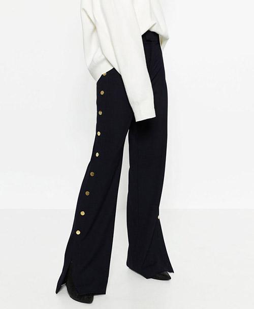 pantalón con botones de zara de olivia palermo