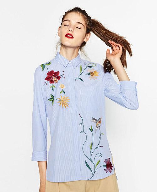 la camisa bordada de zara de olivia palermo