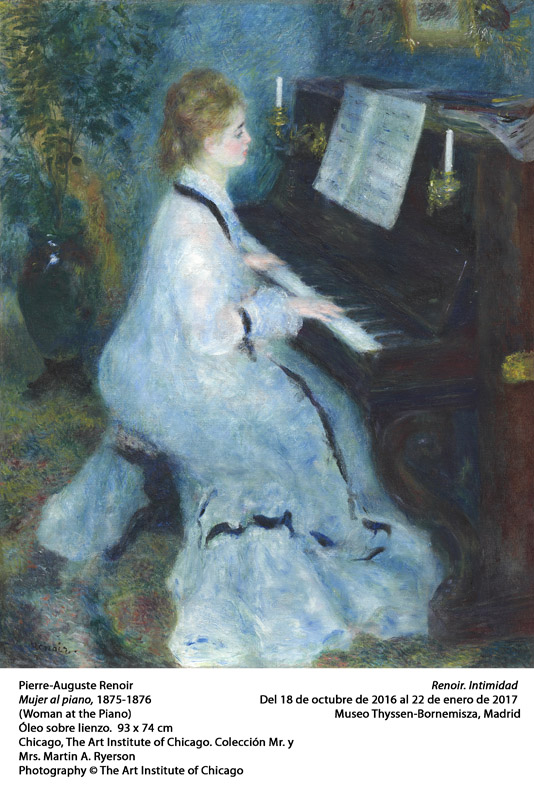 Pierre-Auguste Renoir French, 1841-1919 Woman at the Piano, 1875/76 Oil on canvas - Mr. and Mrs. Martin A. Ryerson Collection- 1937.1025 -The Art Institute of Chicago