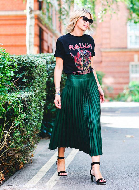 rocker tshirt street style