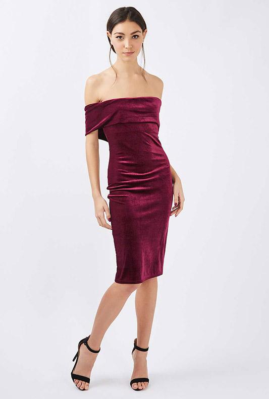 vestido de terciopñeo para nochevieja 2016