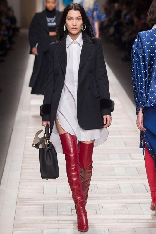 bella hadid en milan fashion week