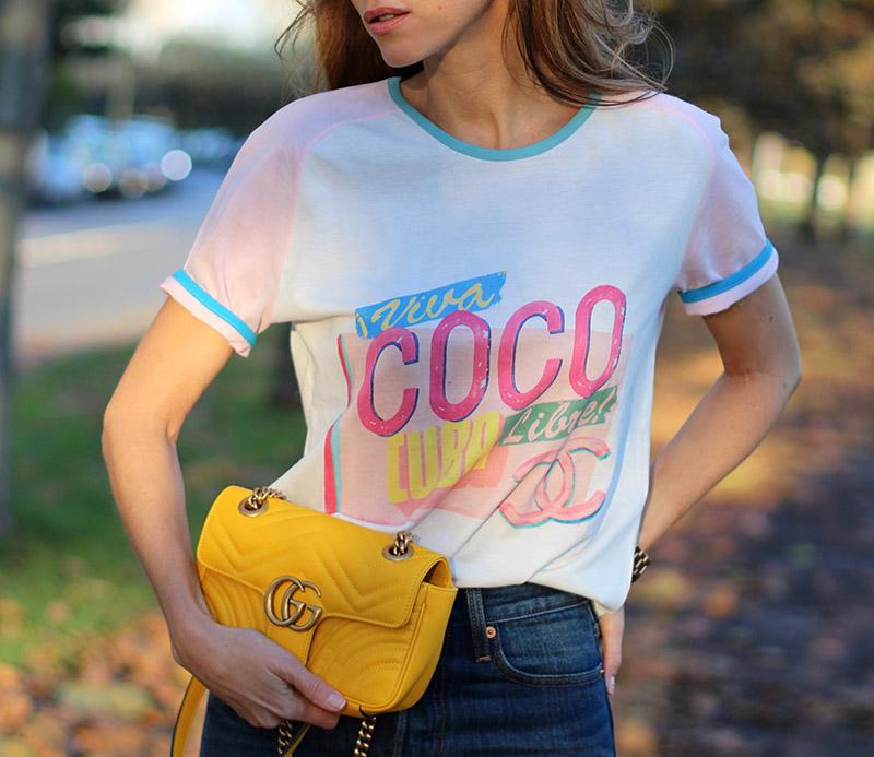 blogger Alexandra Lapp in Chanel Viva COCO CUBA Libre tshirt