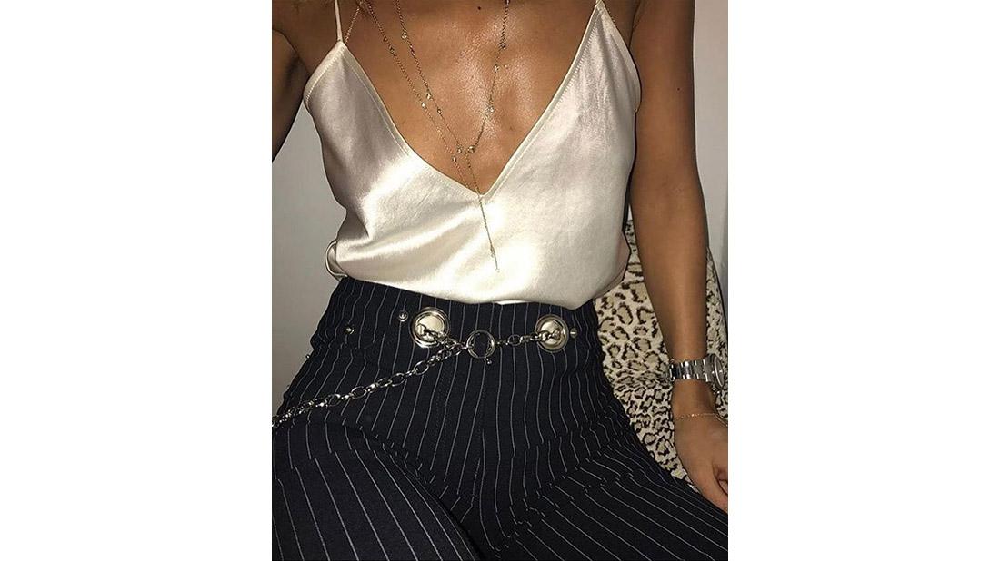 Miaou pinstripe trousers