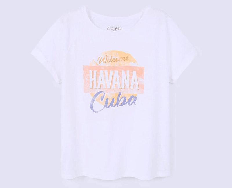 el clon de la camiseta de chanel COCO CUBA Libre