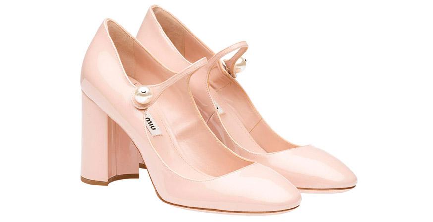zapatos con perlas mary jane miu miu con perlas