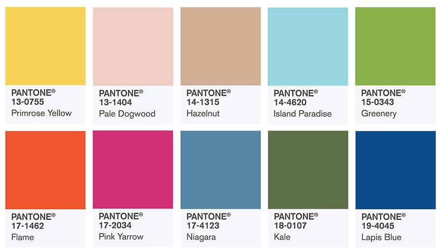los colores para primavera 2017 según pantone