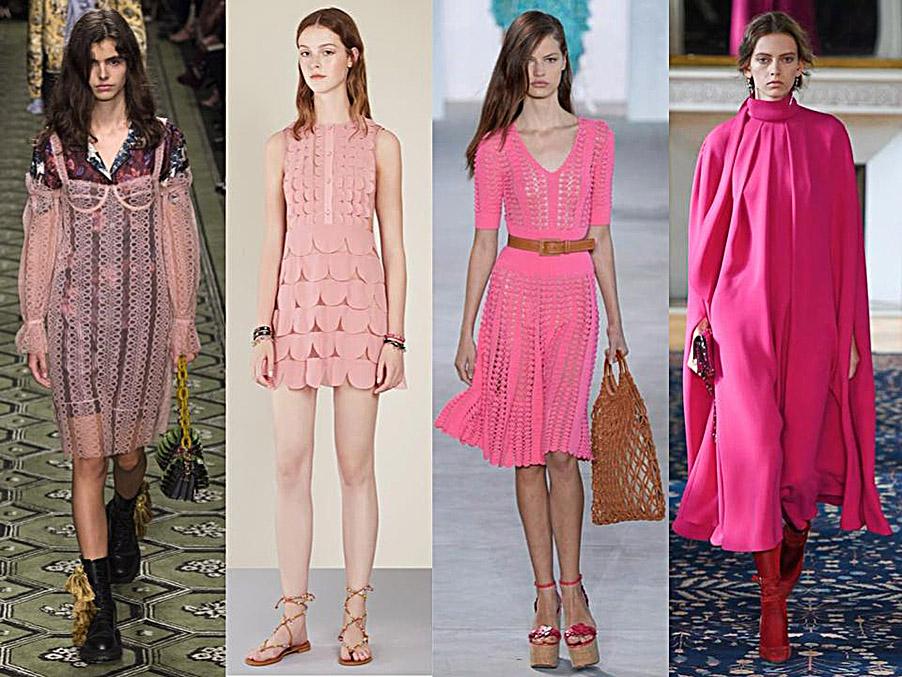 tendencia en tonos rosa para primavera-verano 2017