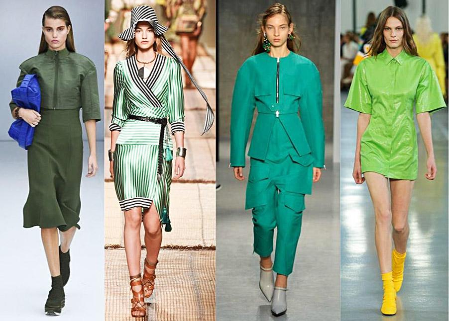 tendencia en tonos verdes para primavera-verano 2017