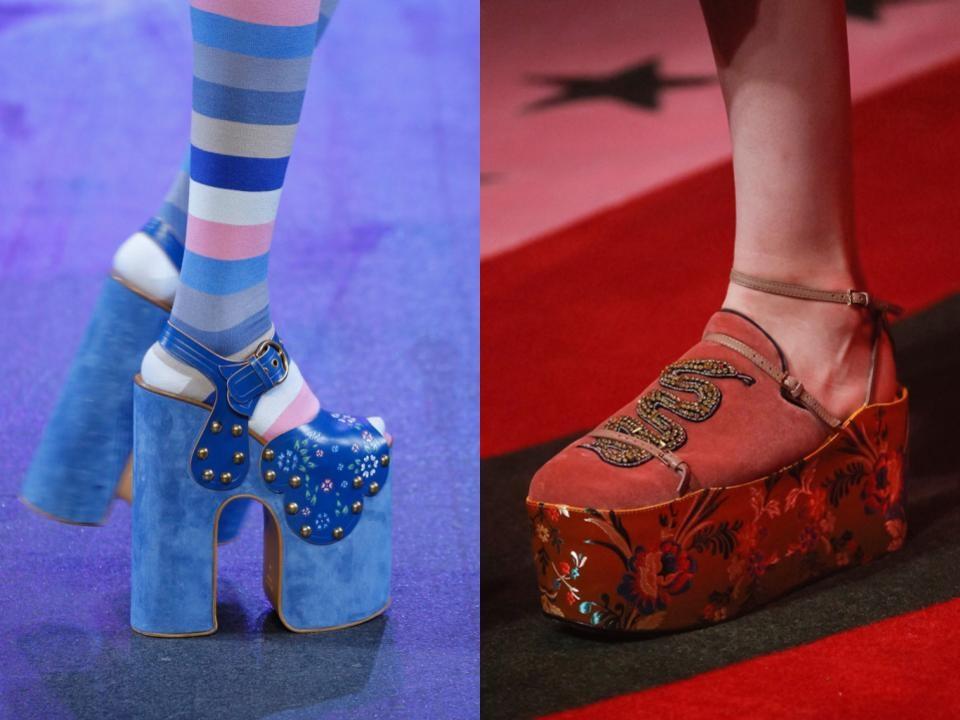 Zapatos de plataformas primavera 2017