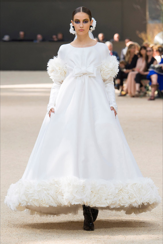 Chanel haute couture fall/winter 2017/2018 vestido de novia