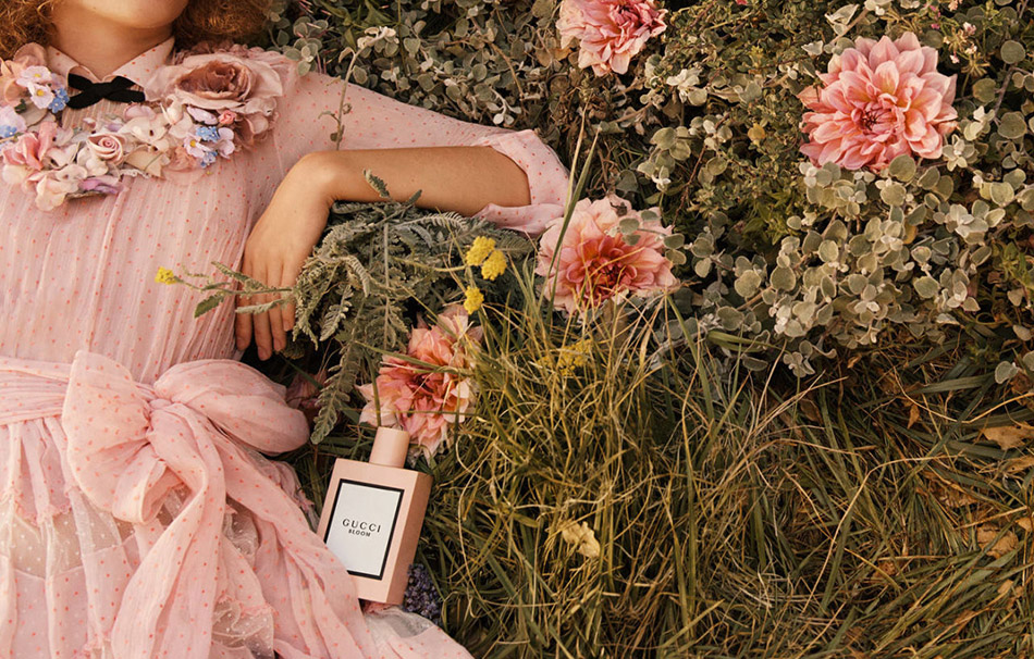Dakota Johnson, Hari Nef and Petra Collins for gucci bloom