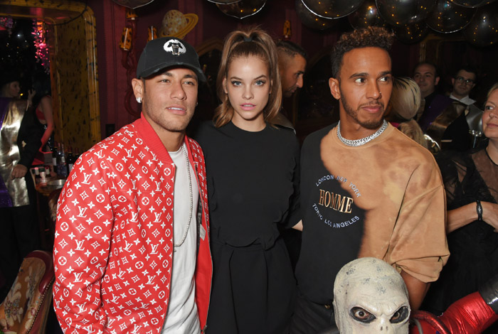 neymar y barbara palvin attends the Miu Miu LOVE party at Loulou's on September 18, 2017 in London, England.