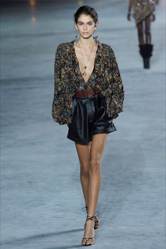 kaia gerber in paris fashion week