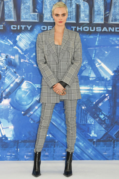 cara delevingne wearing suit