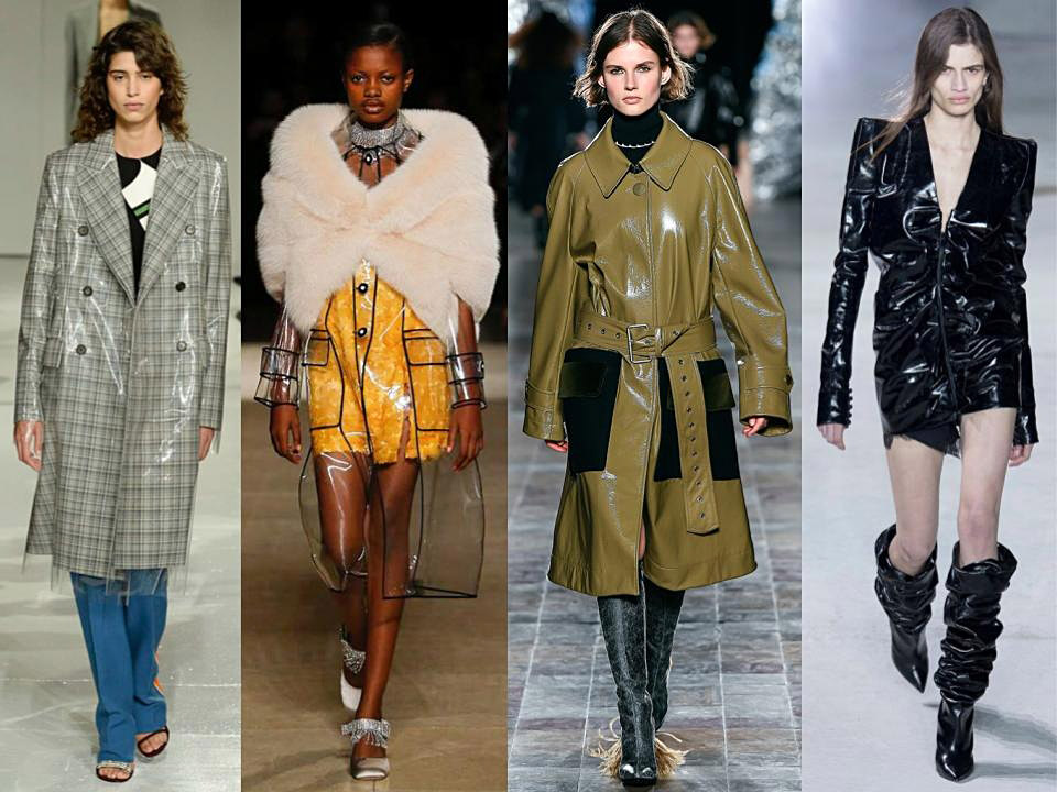plástico tendencia clave invierno 2017 plastic trend fall winter 2018/18