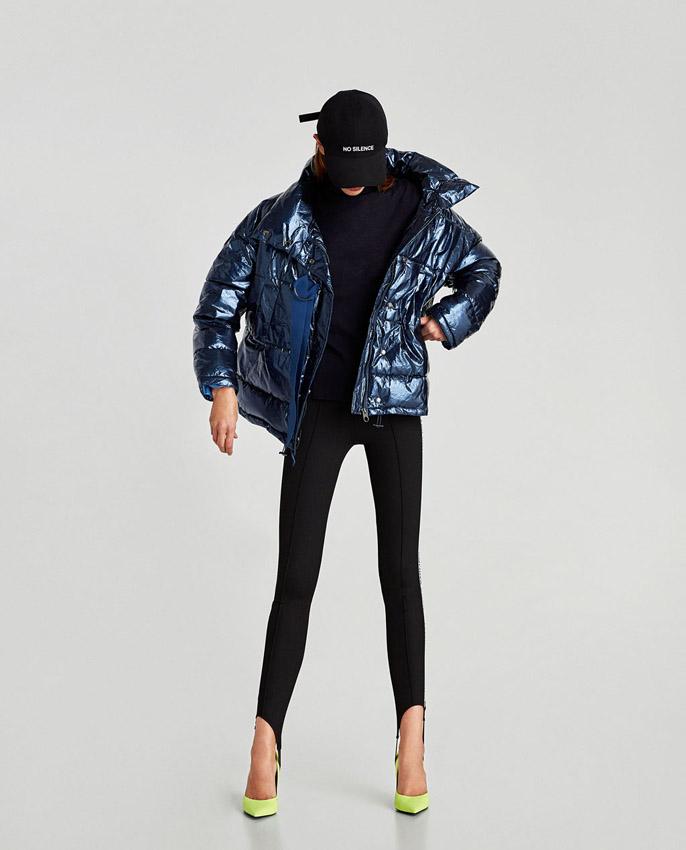 chaqueta de plumas de zara invierno 2017/18