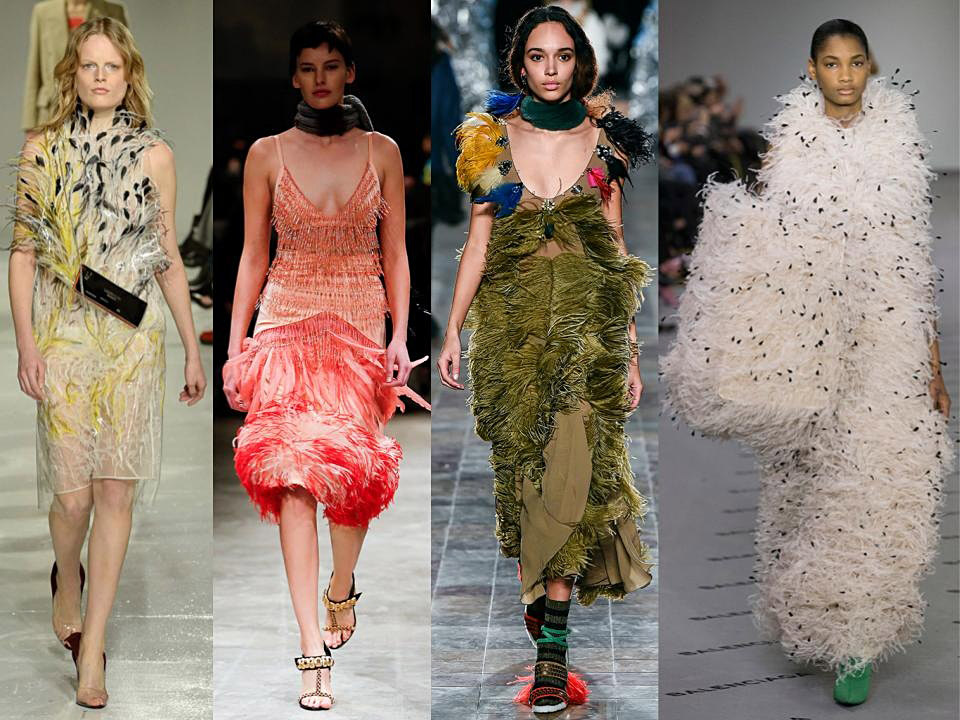 feathers trend fall winter 2018/18