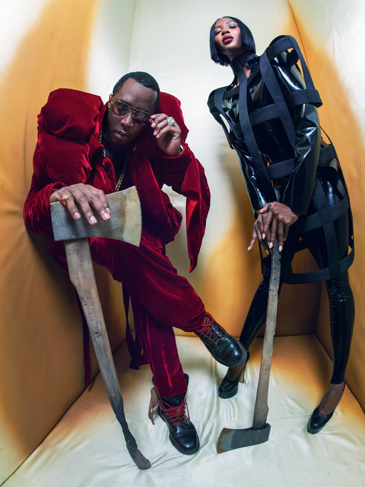 calendario pirelli 2018 NAOMI CAMPBELL AND SEAN DIDDY COMBS