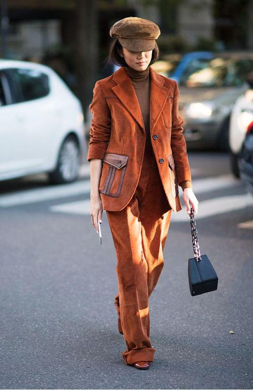 pantalón de pana de prada 2017, corduroy trend