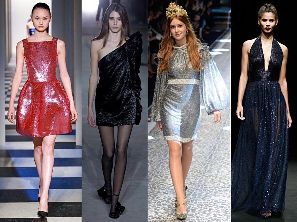 vestidos con brillos para noche vieja 2017