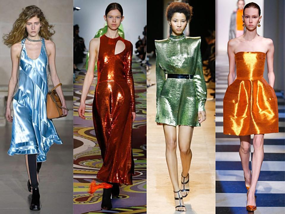 vestidos metalizados para noche vieja