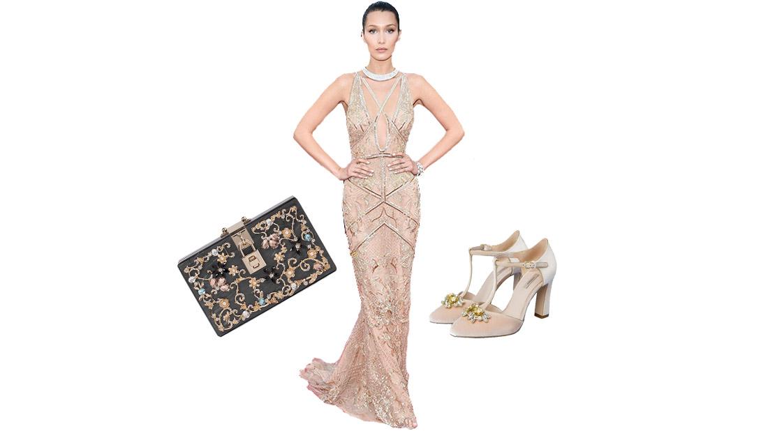 bella hadid wearing dress