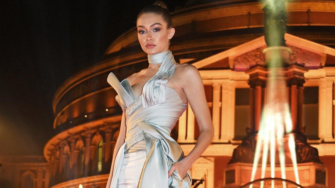 gigi hadid en los british fashion awards