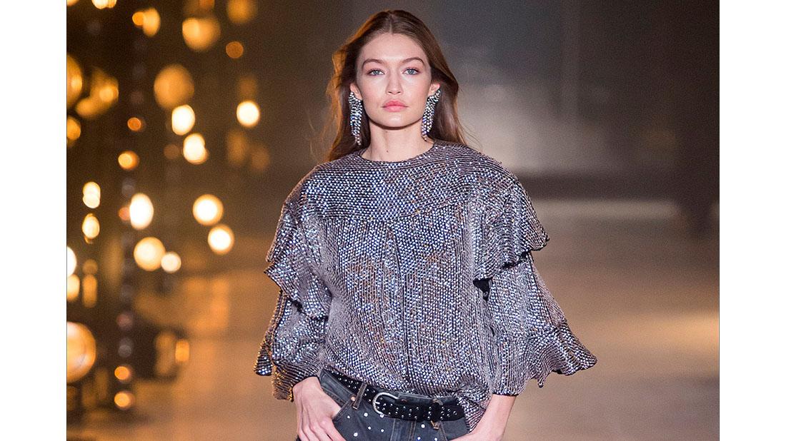 gigi hadid for isabel marant in paris fashion week
