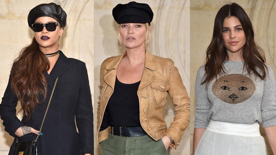 celebrities del desfile de Dior, marzo 2017